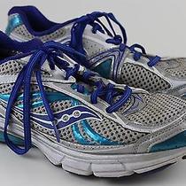 Saucony Omni 12 Athletic Running Sneaker Womens Shoe Sz 10 Blue Aqua Photo