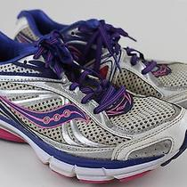 Saucony Omni 12 Athletic Running Sneaker Womens Shoe Sz 10 Blue Pink Photo