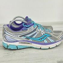 Saucony Omni 13 Power Grid Women's Size 10 Gray Teal Purple Running Shoes S10248 Photo