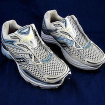 Saucony Pro Grid Omni 9 Womens Athletic Tennis Running Shoes Sz 9m White Blue   Photo