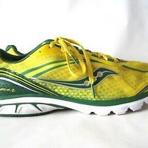Saucony Progrid Kinvara 2 Yellow Green Running Mens Sneakers Shoes Size 11.5 Photo