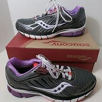 Saucony  Ride 6 Grey Purple Coral Women's Sz 8 B Athletic Sneakers  Photo