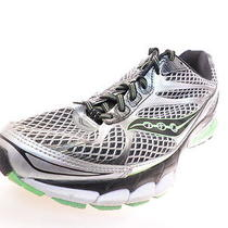 Saucony Ride 7 Mens Running Shoes S20242-2 Black/silver/lime Size 9.5 W Photo