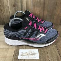 Saucony Ride Iso Everun Blue/pink Running Shoes (S10444-4) Womens Size 10 Photo