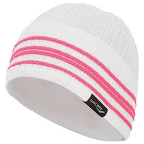 Saucony Run Vibe Winter Warmer Women's Beanie Hat White/vizipro Pink One Size Photo