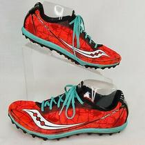 Saucony Size 10 Shay Xc4 Cross Country Running Cleats Orange Black Nylon Photo