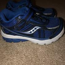Saucony  Sneaker - Little Boy's Size 5.5m Blue Euc Photo