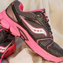 Saucony Sz 4m Cohesion 5 Lace Athletic Running Shoes Girls Size 4 M Pink Photo