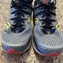 Saucony Triumph Iso Athletic Running Shoes Womens Size 8.5 Blue Photo