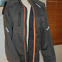 Saucony Vortex Men's Running Jacket Viper Lite Weather Shield Usb Led Medium Photo
