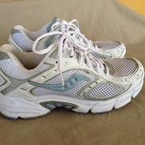 Saucony  White & Blue Women's Athletic Running Shoes 7 Photo