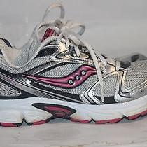 Saucony Women's Cohesion 5 Reflective Silver Pink Running Shoes Size 7 Photo