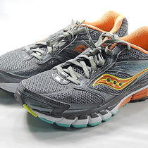 Saucony Women's Guide 8 Grey/sunset/citron Running Shoe 8m Photo