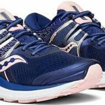 Saucony Women's Omni Iso Running Shoes Navy  Blush Size 11.5 Qcpy Photo