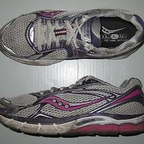 Saucony Women's Powergrid Triumph Running Shoes Size 9 Us White/purple/pink Photo