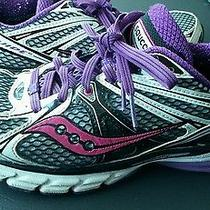 Saucony Women's Progrid Guide 6 Sz 8 Coral Purple Black White Running Shoes  Photo