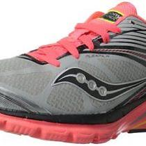 Saucony Womens Kinvara 4 Viziglo Running Shoe Silver/coral/citron 7.5 M Us Photo