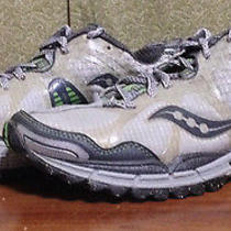 Saucony Womens Size 9 Xodus 2.0 Gray Green Trail Running Shoes Hiking 10080-274 Photo