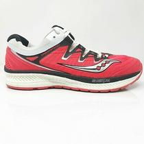 Saucony Womens Triumph Iso 4 S10413-2 Red Black Running Shoes Lace Up Size 8.5 Photo