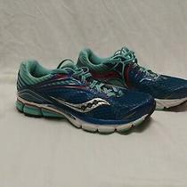Saucony Womens Triumph Running Shoes Size 9 Aqua Blue Red Photo