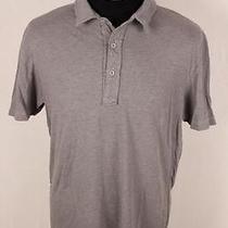Save Khaki United Steven Alan Gray Polo S/s Soft Cotton Lightweight Shirt Mens L Photo