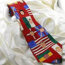 Save the Children Men's Silk Tie Children Change the World Tom Age 15 3.75