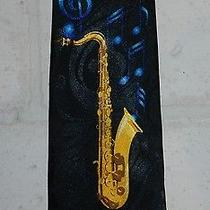 Saxophone Musical Instrument Music Notes Mens Novelty Necktie Tie Steven Harris Photo