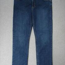 Sb05433 Dickies Straight Womens Jeans Sz16r Dark Blue Photo