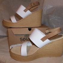 Sbicca Cam Camilla Ladies Wedge Heels Shoes California White and Tan Size 8 Photo