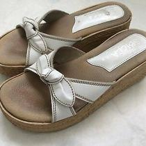 Sbicca Sandals Wedge Platform Natural White Size 7 Pre-Owned Photo