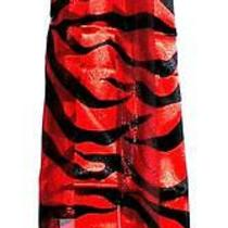 Scarf Classic Red & Black Long Zebra or Fantasy Tiger Photo