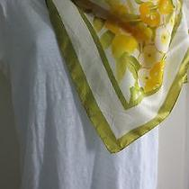 Scarf Women's Avon Medium Square Floral Scarf Water Repellent  Preowned Photo
