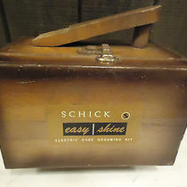 Schick Easy Shine Electric Shoe Grooming Wood Shine Box Rare Vintage Photo