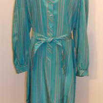 Schrader Sport Size 16 Vintage Career Dress Aqua Blue Euc Photo
