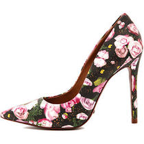 Schutz 199 Bloom Rose Floral Mix Gilberta Heels Pumps 8    Photo