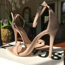 Schutz Cadey-Lee Shoes Neutral Single Strap Size 8.5 B High Heel Sandals Photo