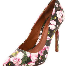 Schutz Floral Pink Rose Print Gilberta Pumps Heels New 199 7.5 Photo