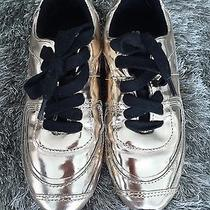 Schutz  Gold Leather Women Sneakers Size 5.5  Photo