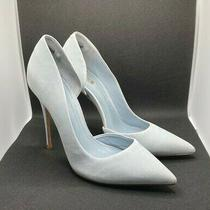 Schutz Powder Blue Micro-Suede Pointed Toe Stilettos Size 9b Photo