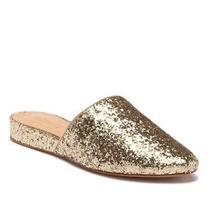 Schutz Sulenya Gold Glitter Shoes Flats Slides Mules Size 5 Photo