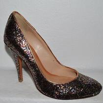 Schutz Sz 5 B 36 Glitter Leather Pumps Heels Shoes Photo