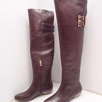 Schutz Women's Arlyn Back Buckle Over-the-Knee Boot Red 8.5m -New With Defects Photo