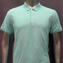 Scott James Mens Xl Short Sleeve Polo Shirt Aqua Blue Solid Top Designer Fashion Photo