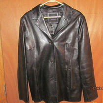 Screaming Deal Marc New York-Like New Black Leather Jacket Ladies Xl Photo
