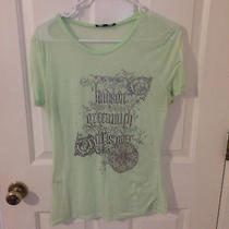 Seafoam Green Express Brand Shirt Women's Large- Vintage Cute Photo