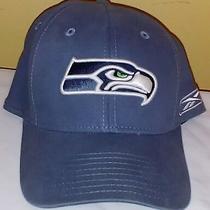 Seattle Seahawks Nfl Onfield Flexfit Cap Reebok Hat Blue Sz M/l Photo