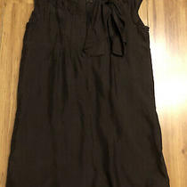 See by Chloe 100% Silk Tunic Smoke Shift Dress With Bow Dark Brown Uk 10 - 12 Photo