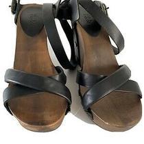 See by Chloe 38 Wedges Black Leather Wrap Atoundankle Strap Platform Sandals 7.5 Photo
