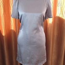 See by Chloe Baby Blue Embroidered 100% Silk Dress Sz 2 Photo