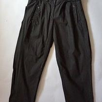 See by Chloe Black Adjustable High Waist Snap Pockets Pants Trousers Sz 4 29l Photo